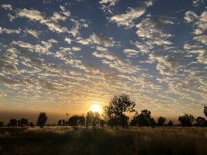 Australië - zonsondergang