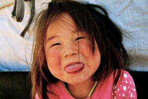 Mongolië - lokaal meisje