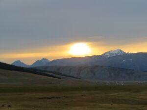 Mongolië - zonsondergang