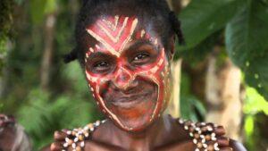 Papoea Nieuw Guinea - lokale vrouw