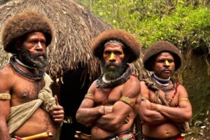 Papoea Nieuw Guinea - dorp