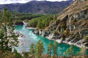 Rusland Altai - bergrivier